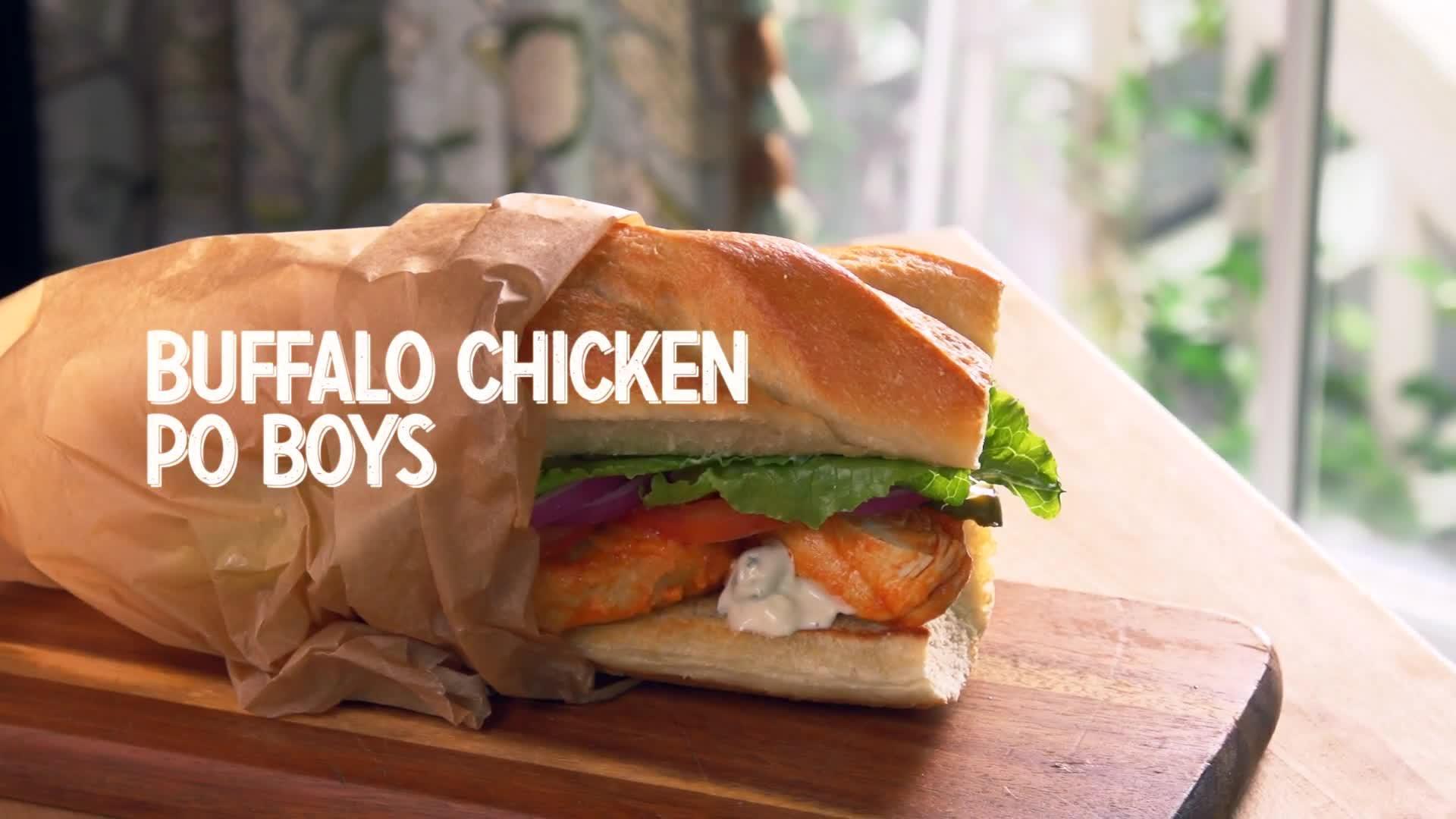 Buffalo Chicken Po Boys thumbnail