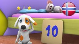 10 I Senga  | barnesanger på norsk | barnerim | Nursery Rhymes by Little Treehouse