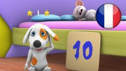 10 Dans le Lit | Comptines pour Enfants | Dessin Animé Francais | Comptine Little Treehouse