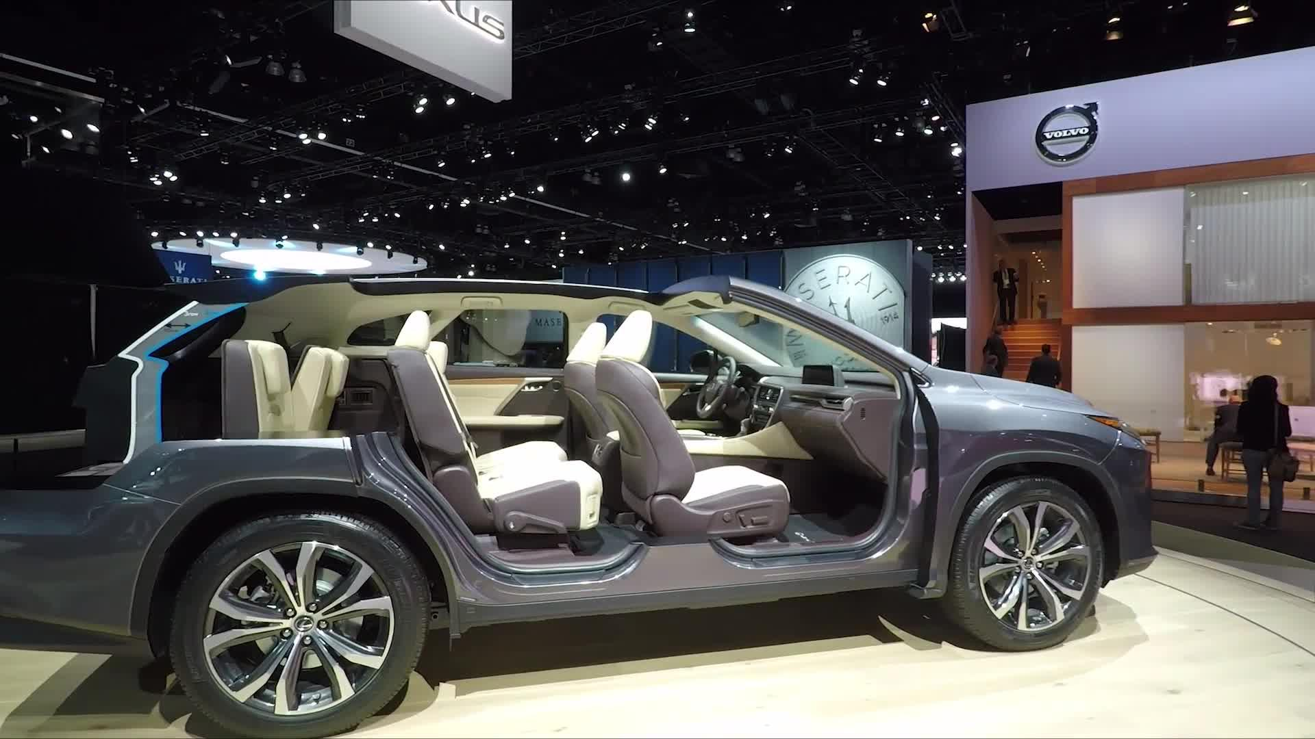 lexus lf  limitless crossover concept  detroit auto show debut autoblog