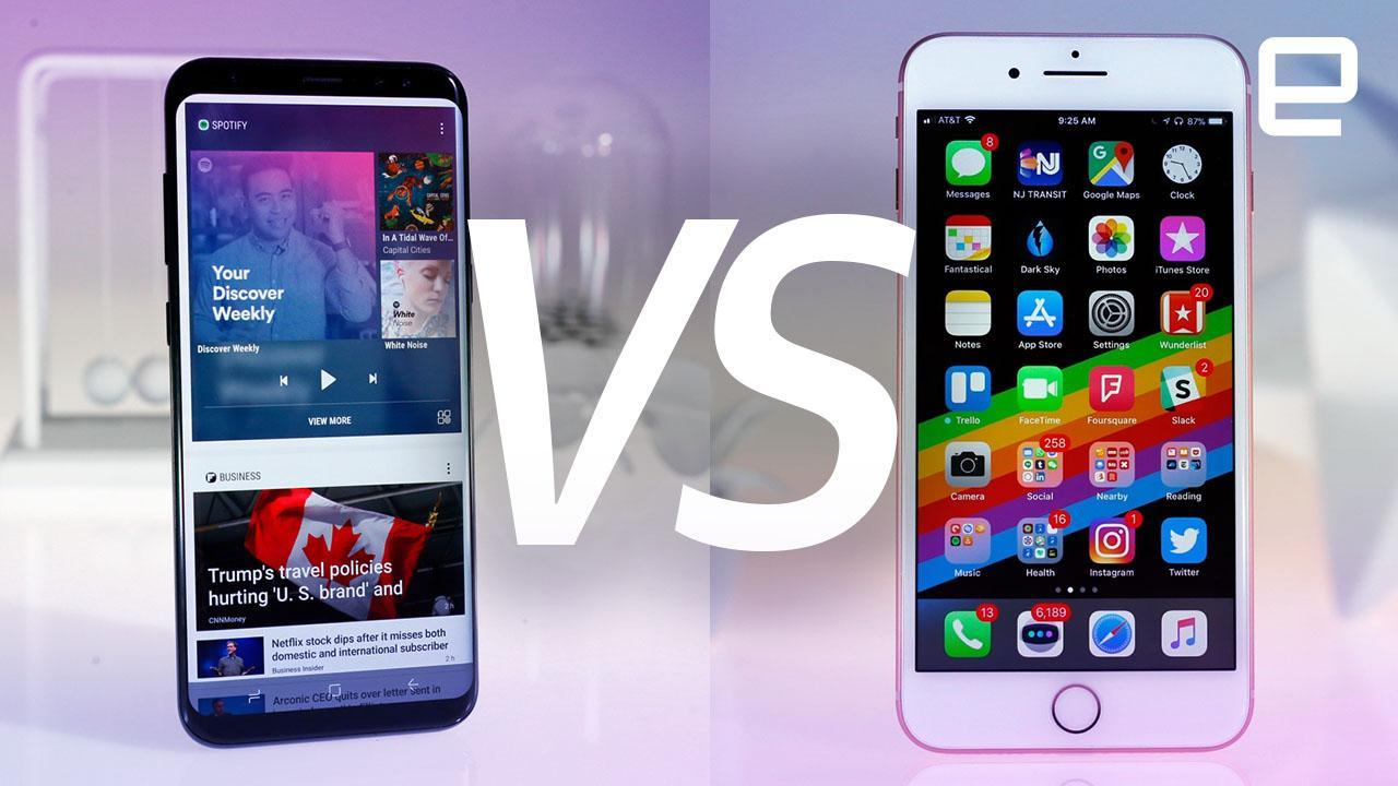 mobile spy iphone 6 Plus vs galaxy note 8