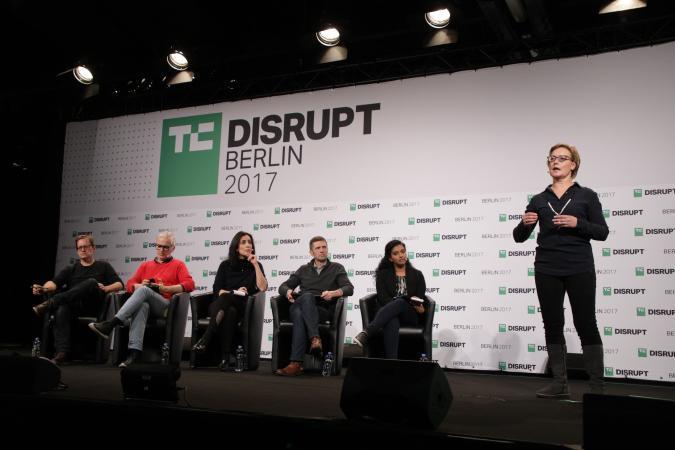AI Spotter presents at Disrupt Berlin Startup Battlefield