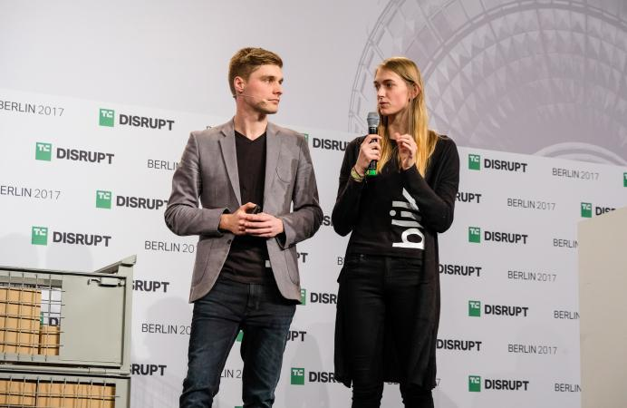 Blik presents at Disrupt Berlin Startup Battlefield