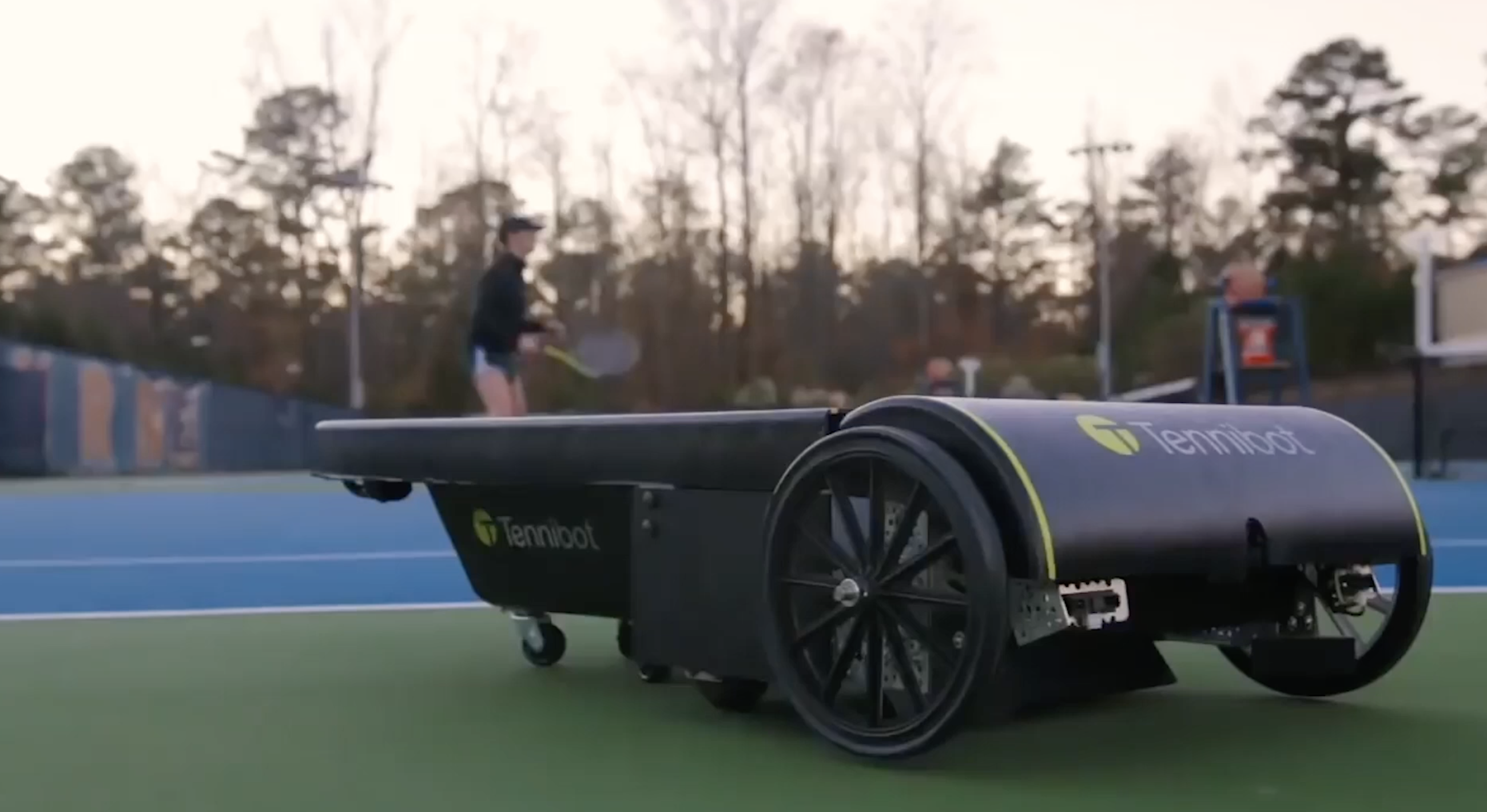 Tennibot autonomous tennis ball collector
