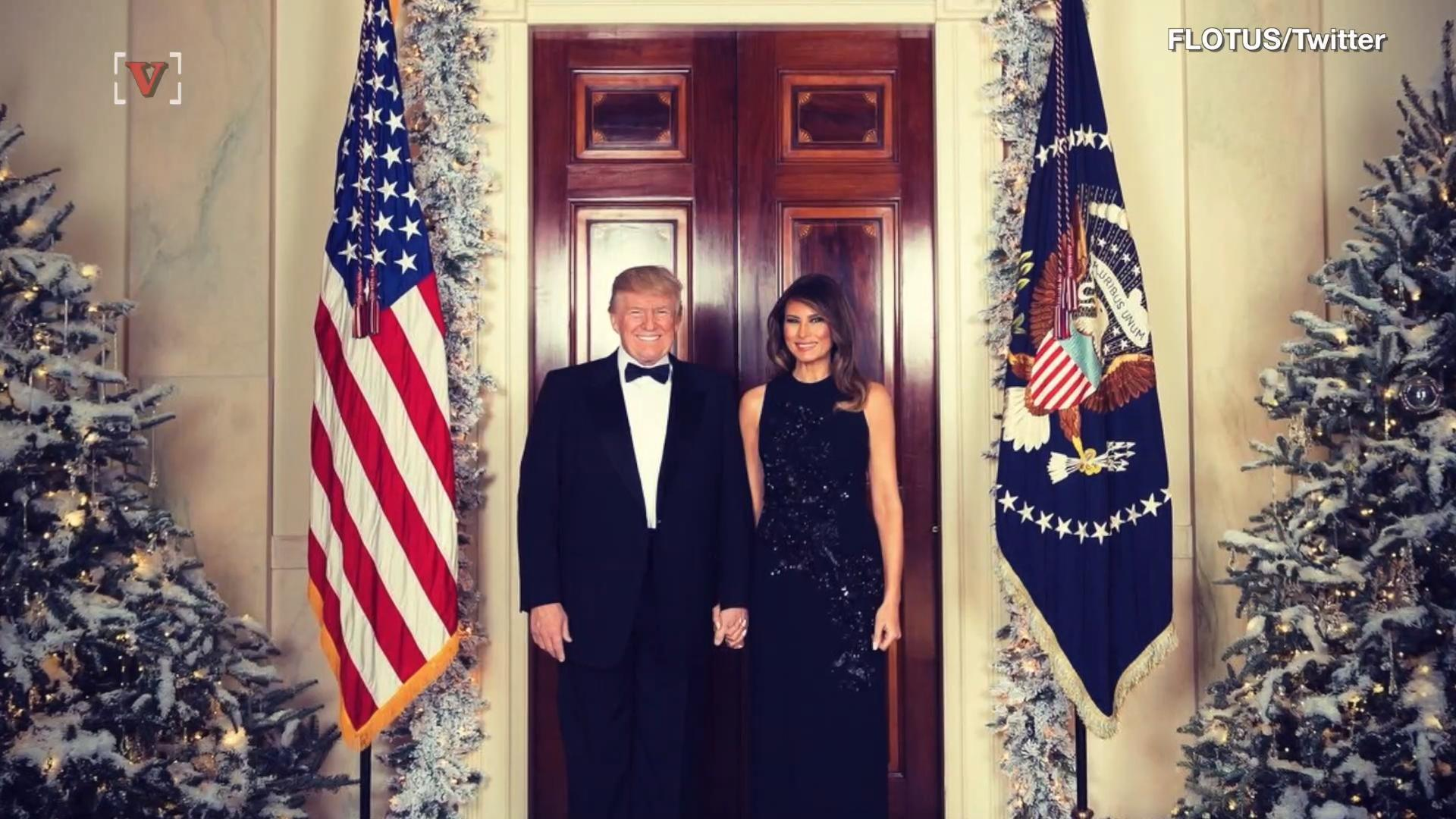 First lady Melania Trump dazzles in custom Delpozo for the annual ...
