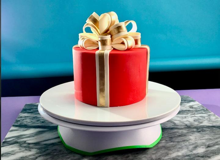 Watch This Gorgeous Gift Cake Being Made
