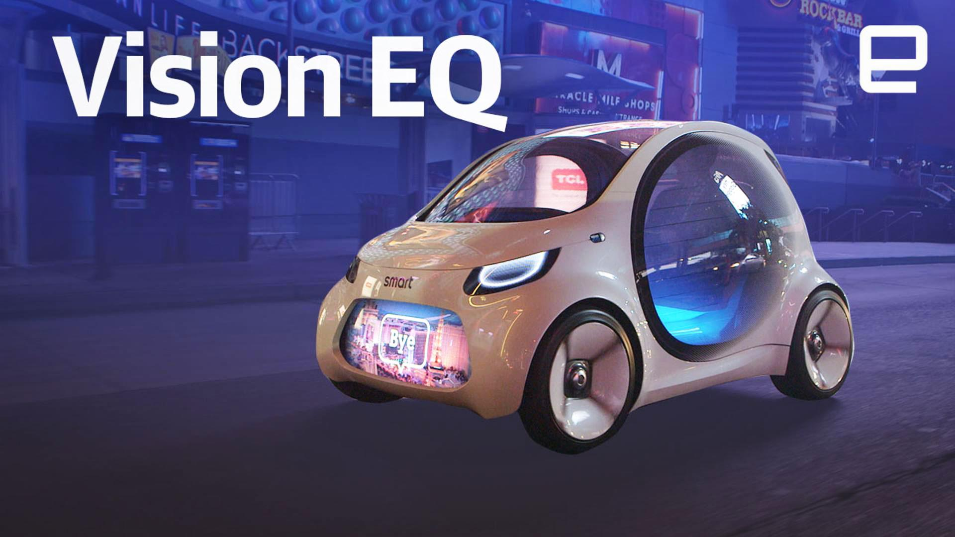 Cruising the las vegas strip in the smart vision eq concept car malvernweather Gallery