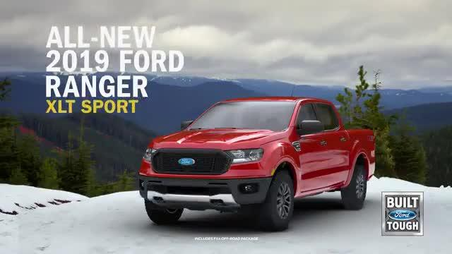2019 Ford Ranger colors, and photos showing an active ...