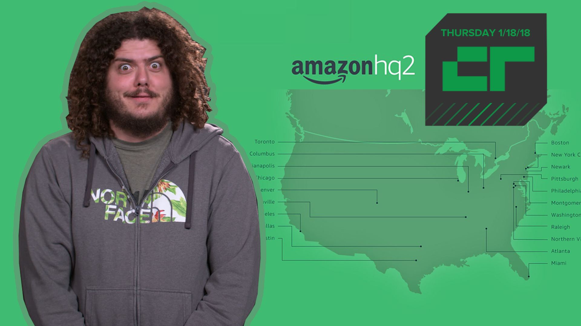 Amazon reveals 20 finalists for second HQ | Crunch Report