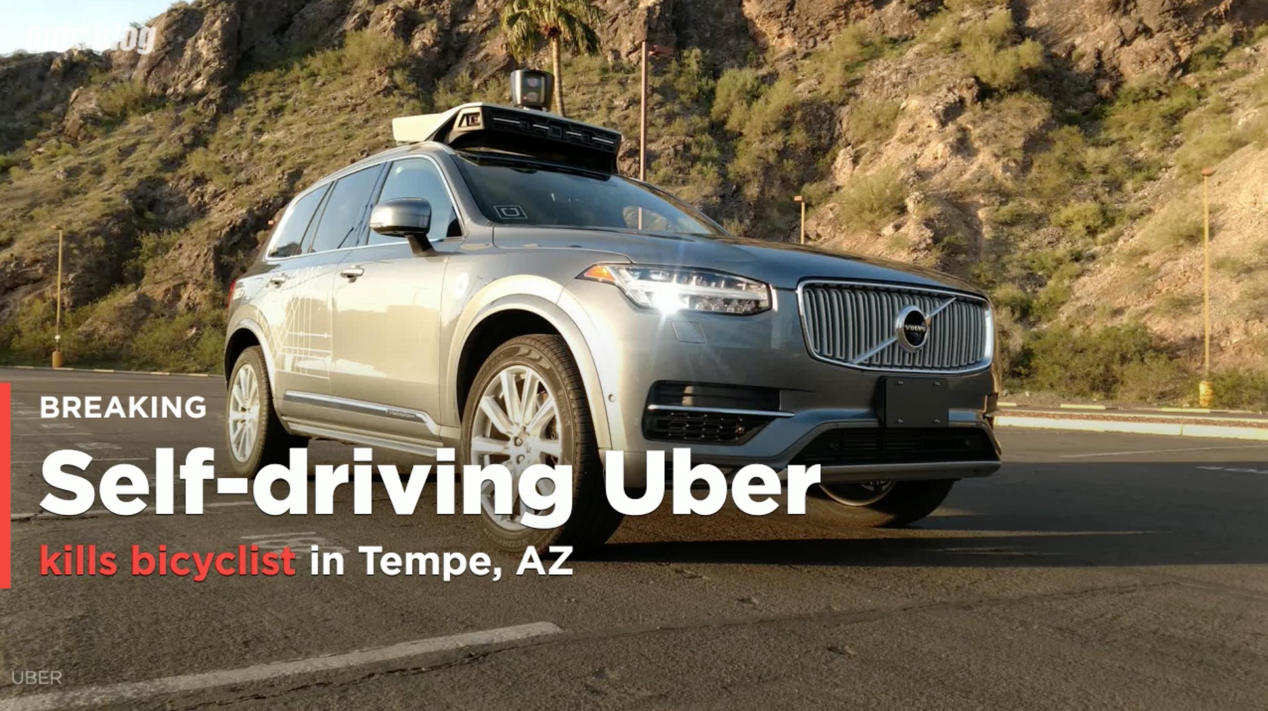 Uber suspends autonomous vehicle testing after Volvo kills bicyclist