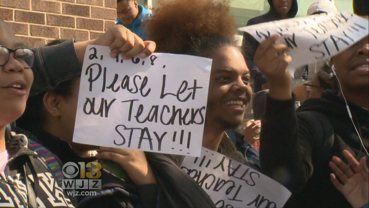 Students Protest At Dunbar High School Over Treatment Of Teachers
