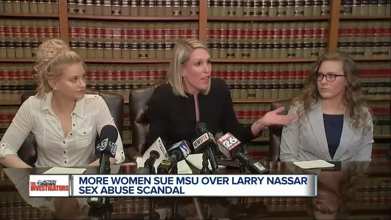 More women sue MSU over Larry Nassar case