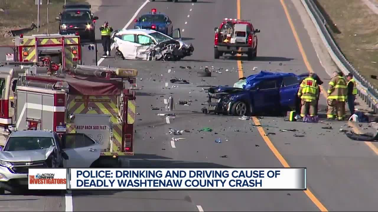 Police say drinking and driving caused a deadly Washtenaw County crash
