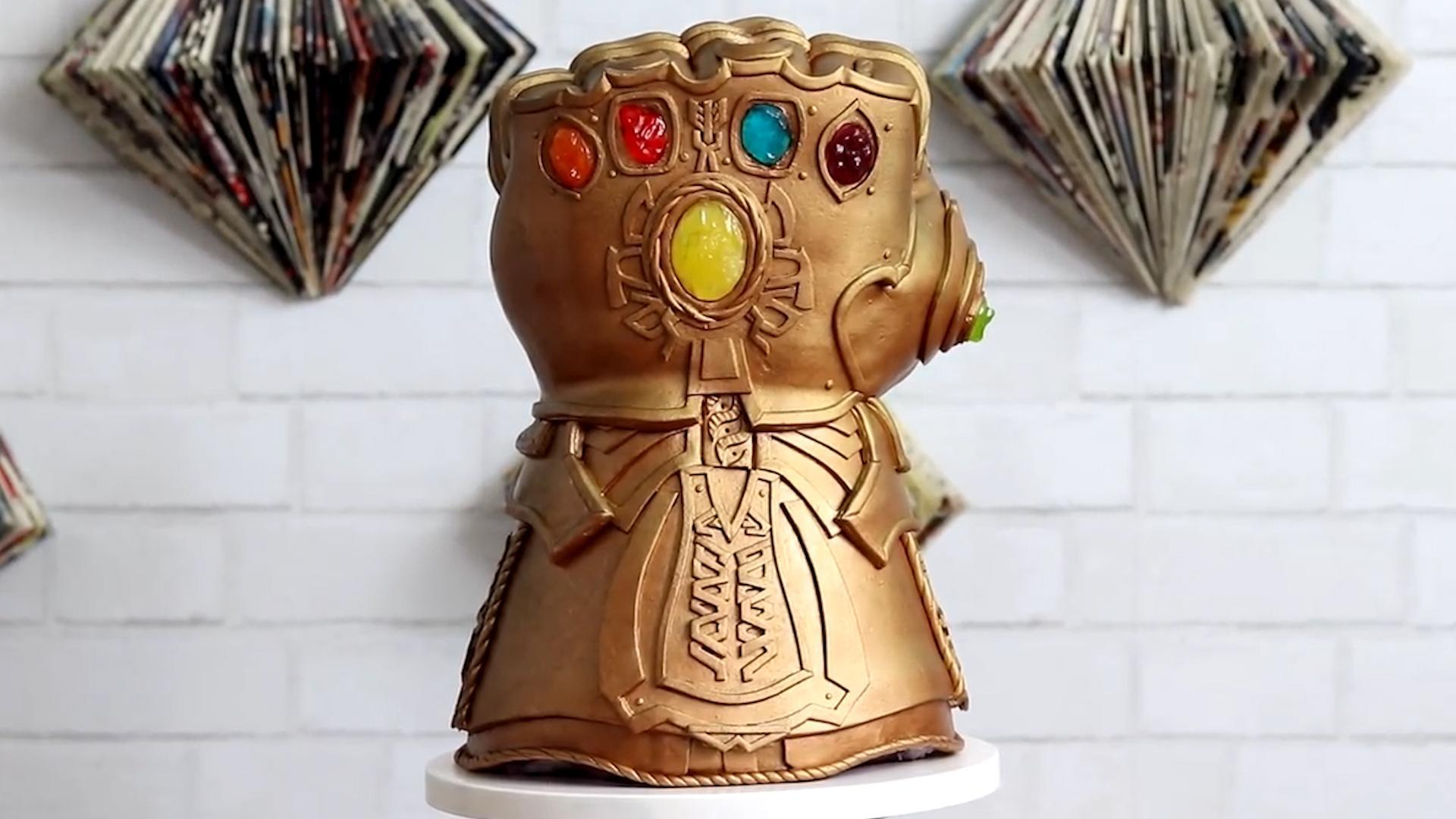 Behold the Avengers Infinity Gauntlet Cake