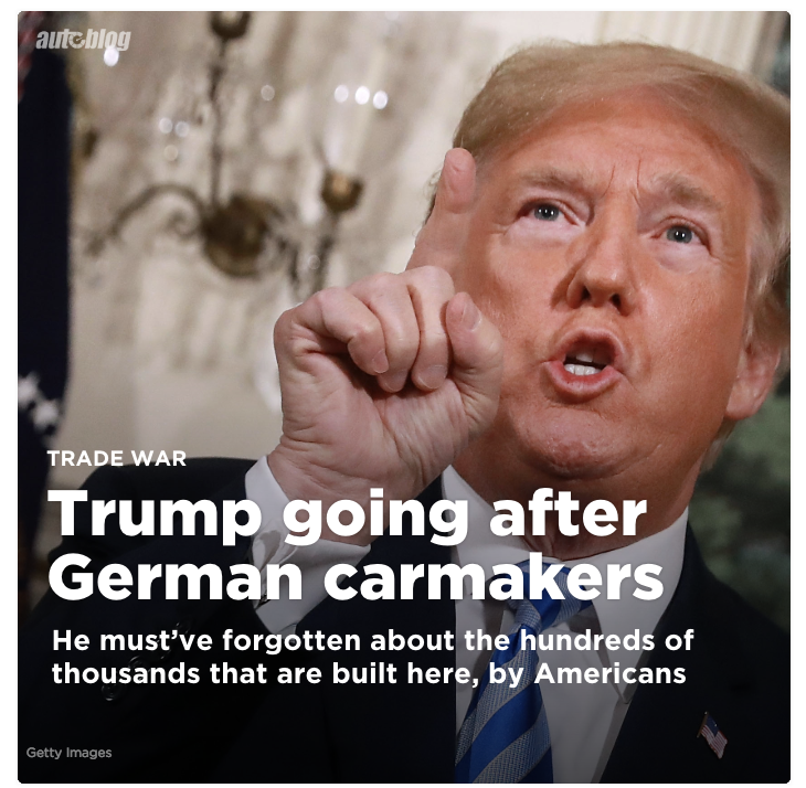 Trump's Proposed Tariffs Could Cut German Car Exports To U