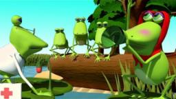 Five Little Froggies | Five Speckled Frogs | Nursery...