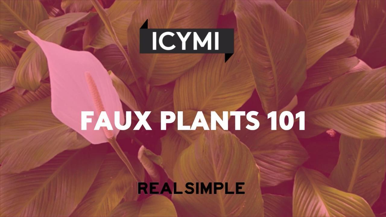 Faux Plants 101