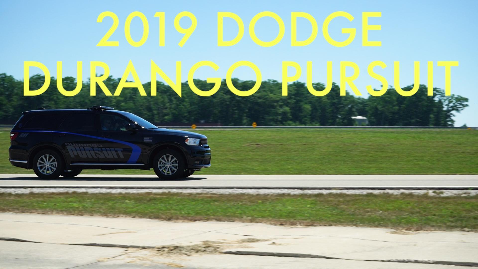 Video 2019 Dodge Durango Pursuit Autoblog