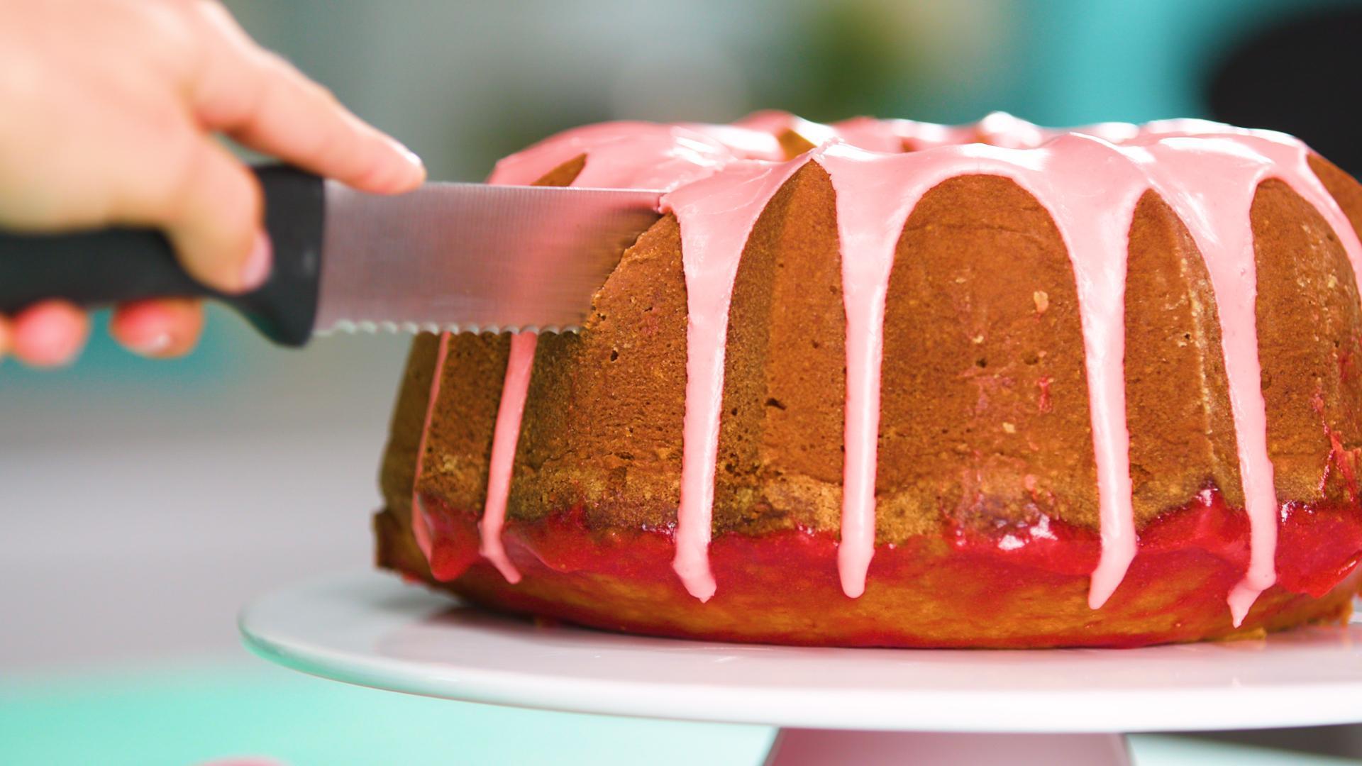 How to Make Strawberry Poke Pound Cake