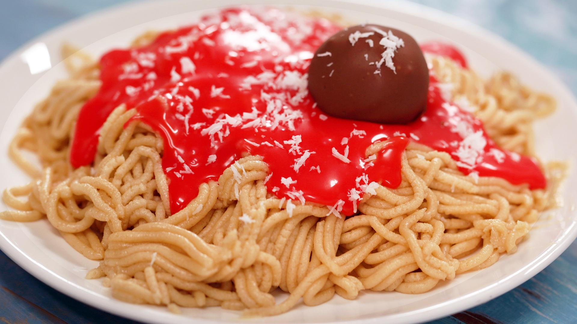 How to Make Cookie Dough Spaghetti and Meatballs