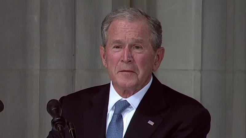 George W Bush Recalls John Mccain S Distaste For Bigots And
