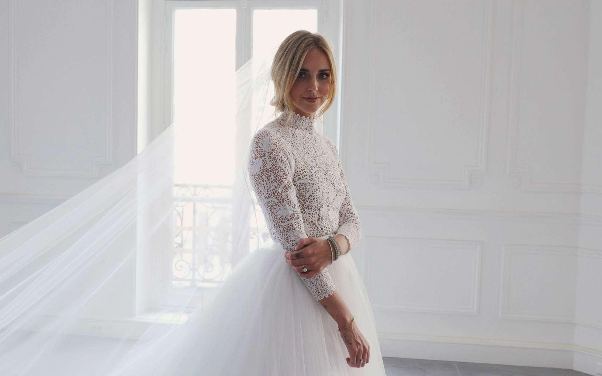 921b95db259 Blogger bride Chiara Ferragni wears three custom Dior dresses at lavish  wedding