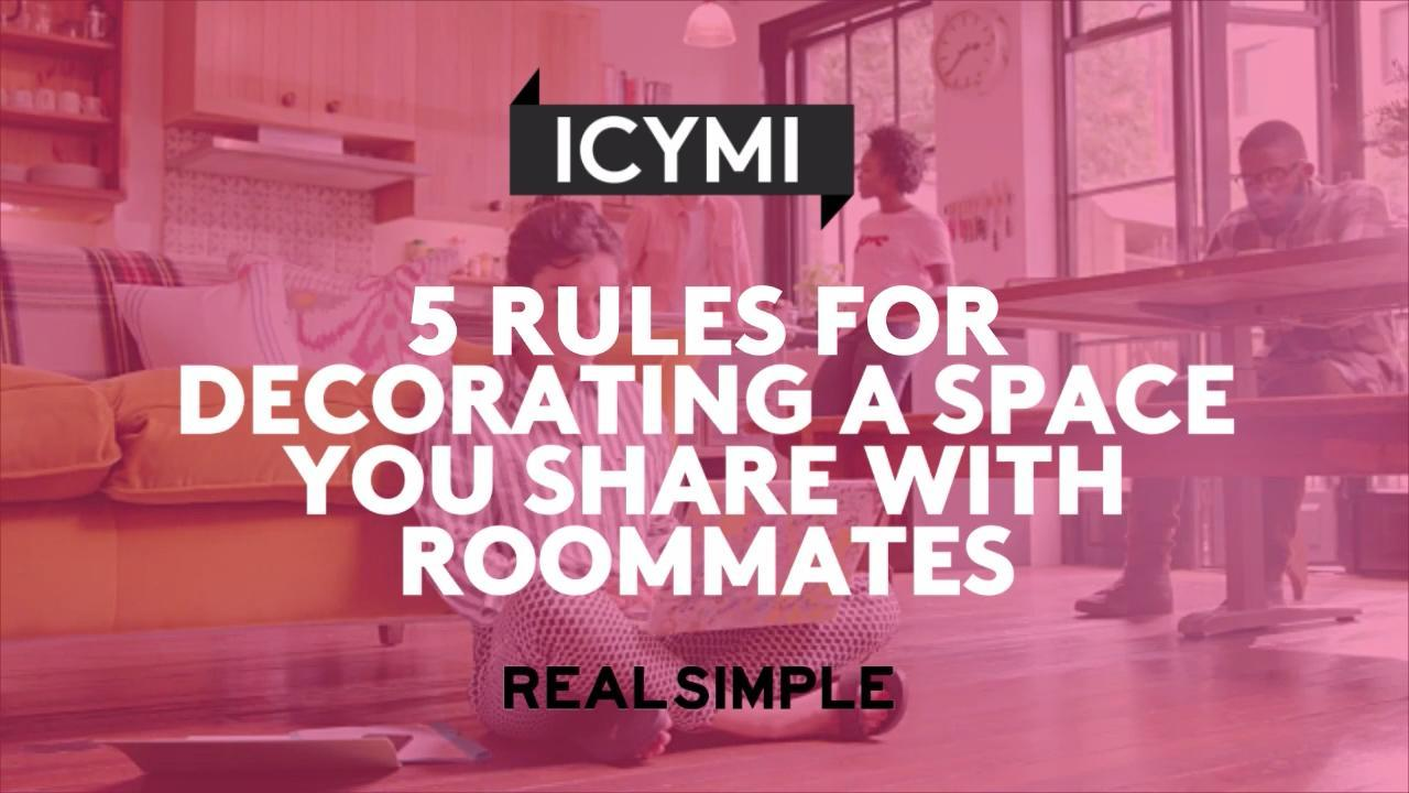 5 Rules for Decorating a Space You Share With Roommates
