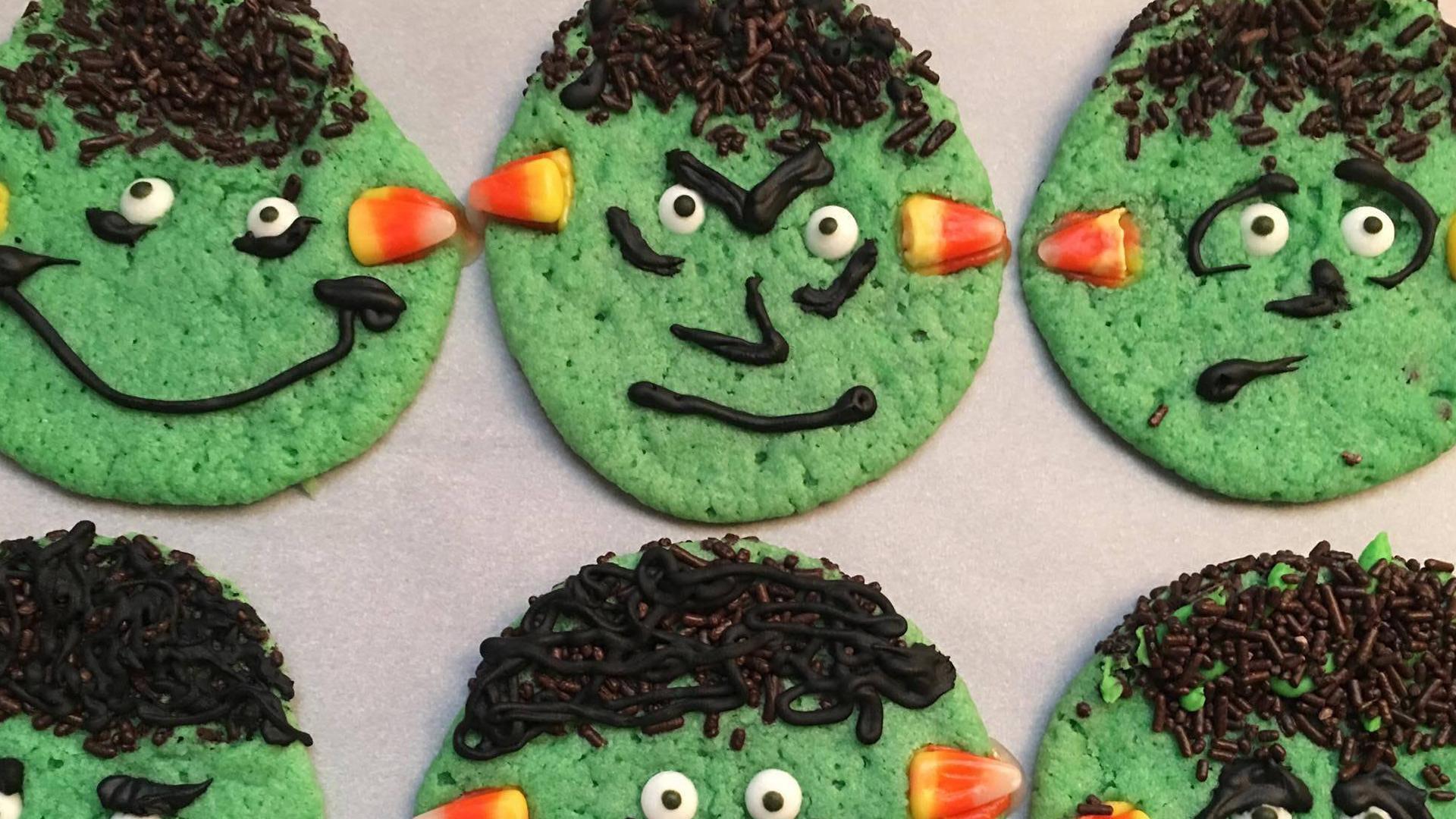 How to Make Frankenstein Cookies