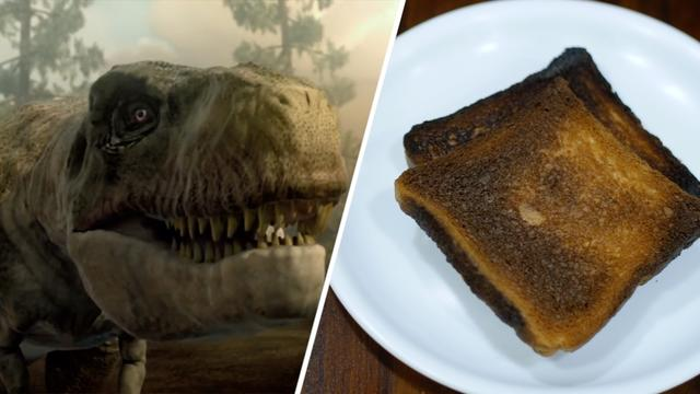 National News - Fossilized Dinosaur Proteins, Burnt Toast Share Similar Chemistry