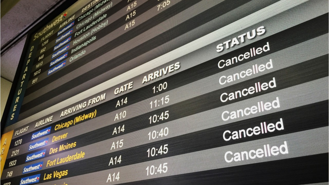 National News - Flights Cancelled As Major Winter Storm Hits Eastern U.S.