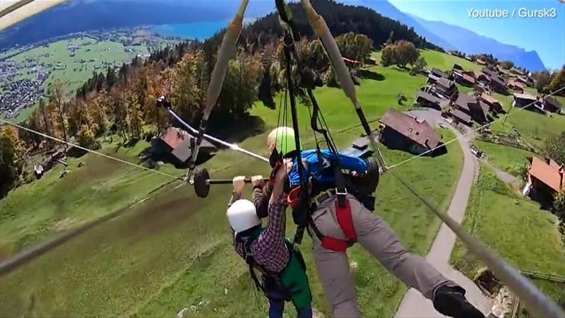 Sara Jean - Hang Glider Hangs on Desperately After Pilot Forgets to Attach Him to Craft