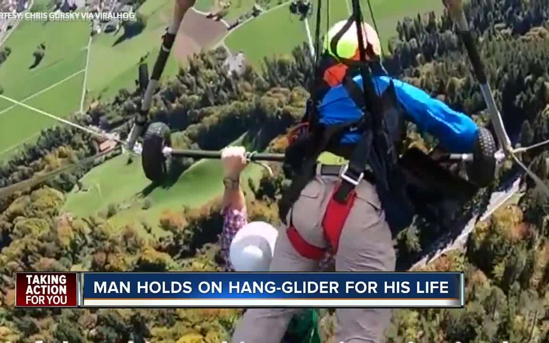 Swiss to investigate near-miss hang gliding incident | Stuff