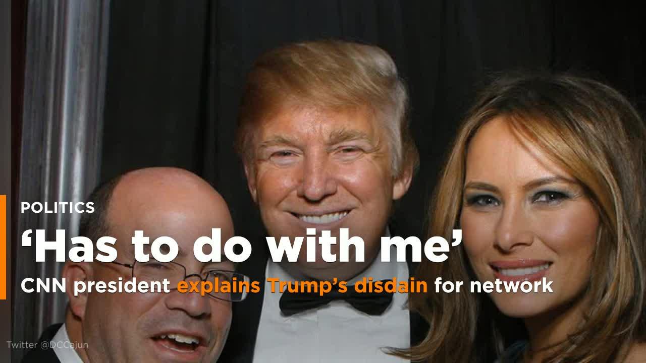 Trump Suggests CNN's President Will Resign. CNN Replies 'LOL.'