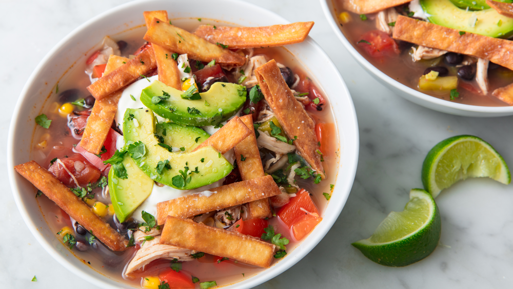 This Slow Cooker Recipe For Chicken Tortilla Soup Is The Perfect Winter Dinner