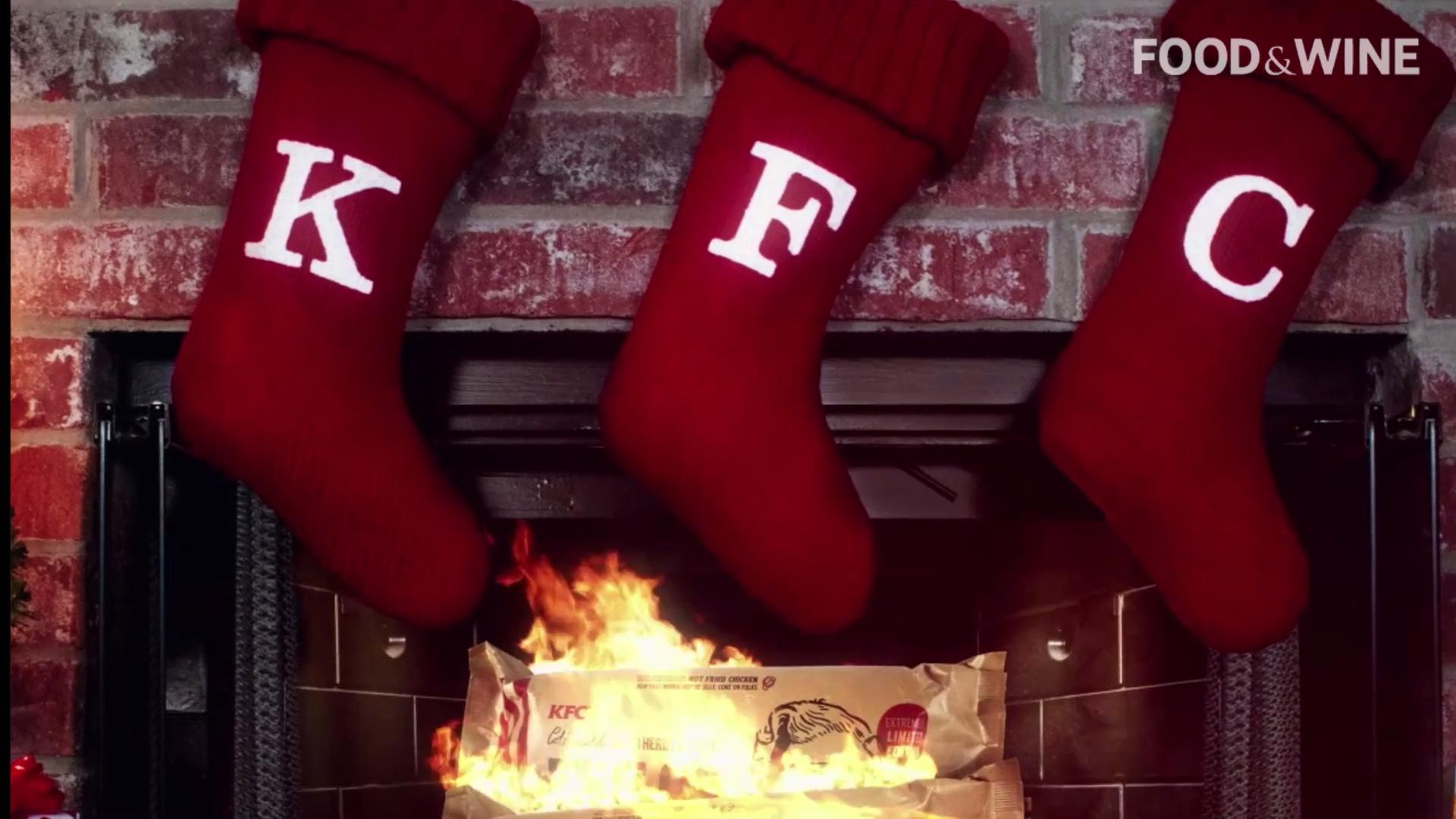 Weird, Odd and Bizarre News - KFC Is Selling Fried Chicken Firelogs Because Of Course They Are