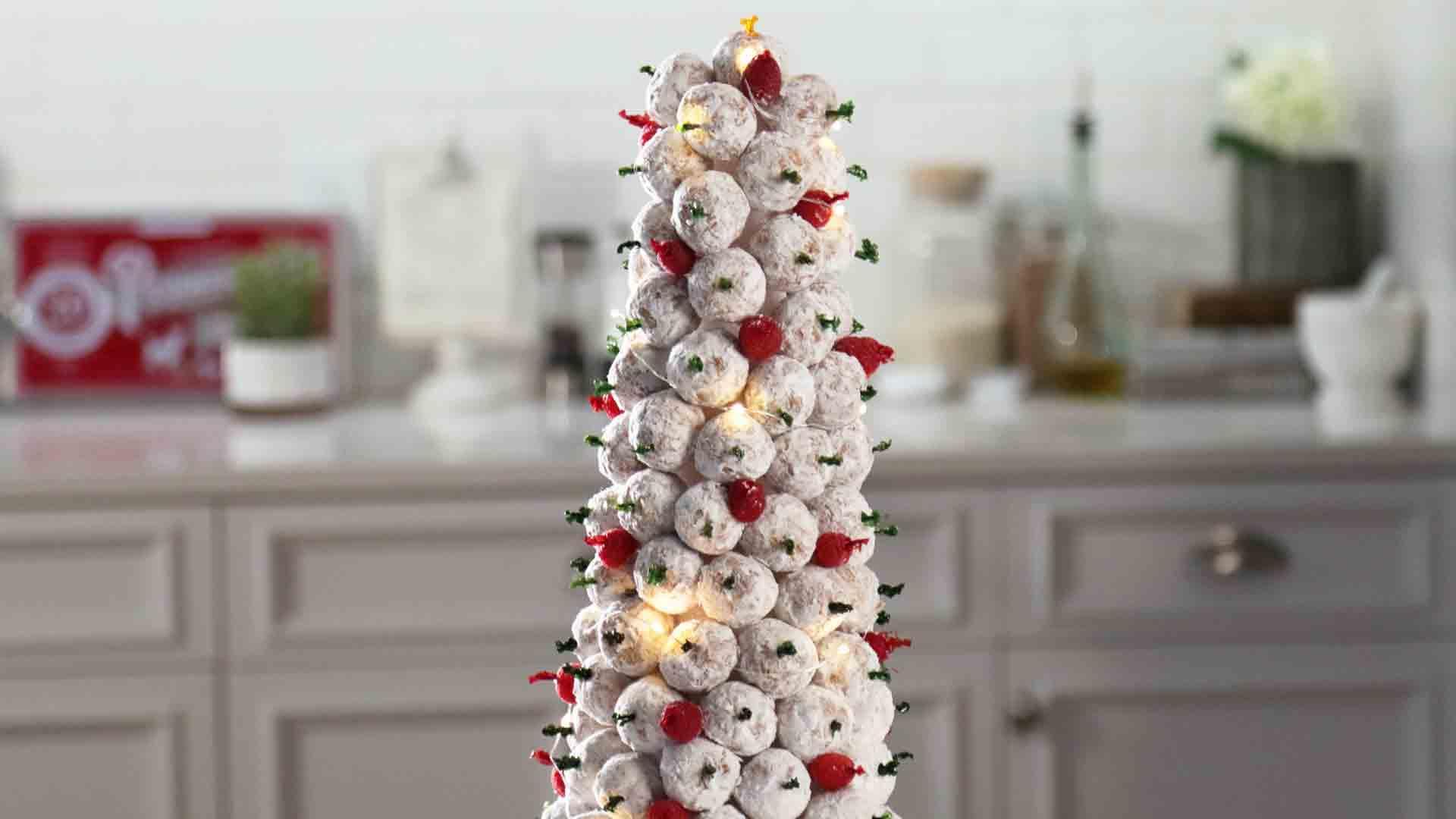How to Make a Donut Hole Christmas Tree