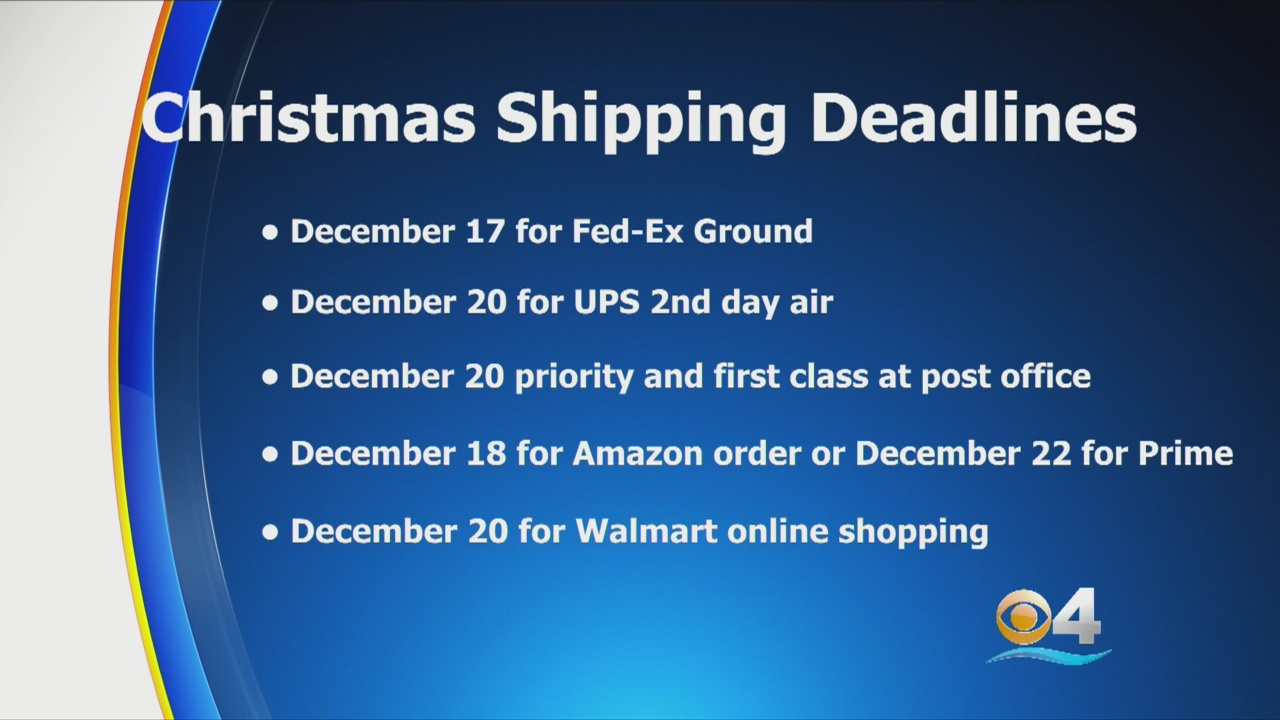 Time Is Running Out To Ship Those Christmas Gifts