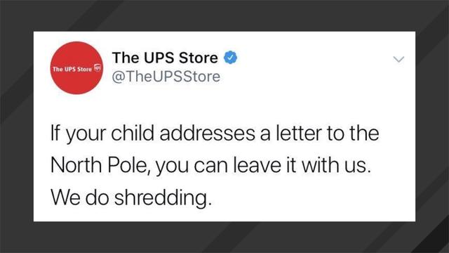 None - UPS Store Deletes Grinch-Like Christmas Tweet