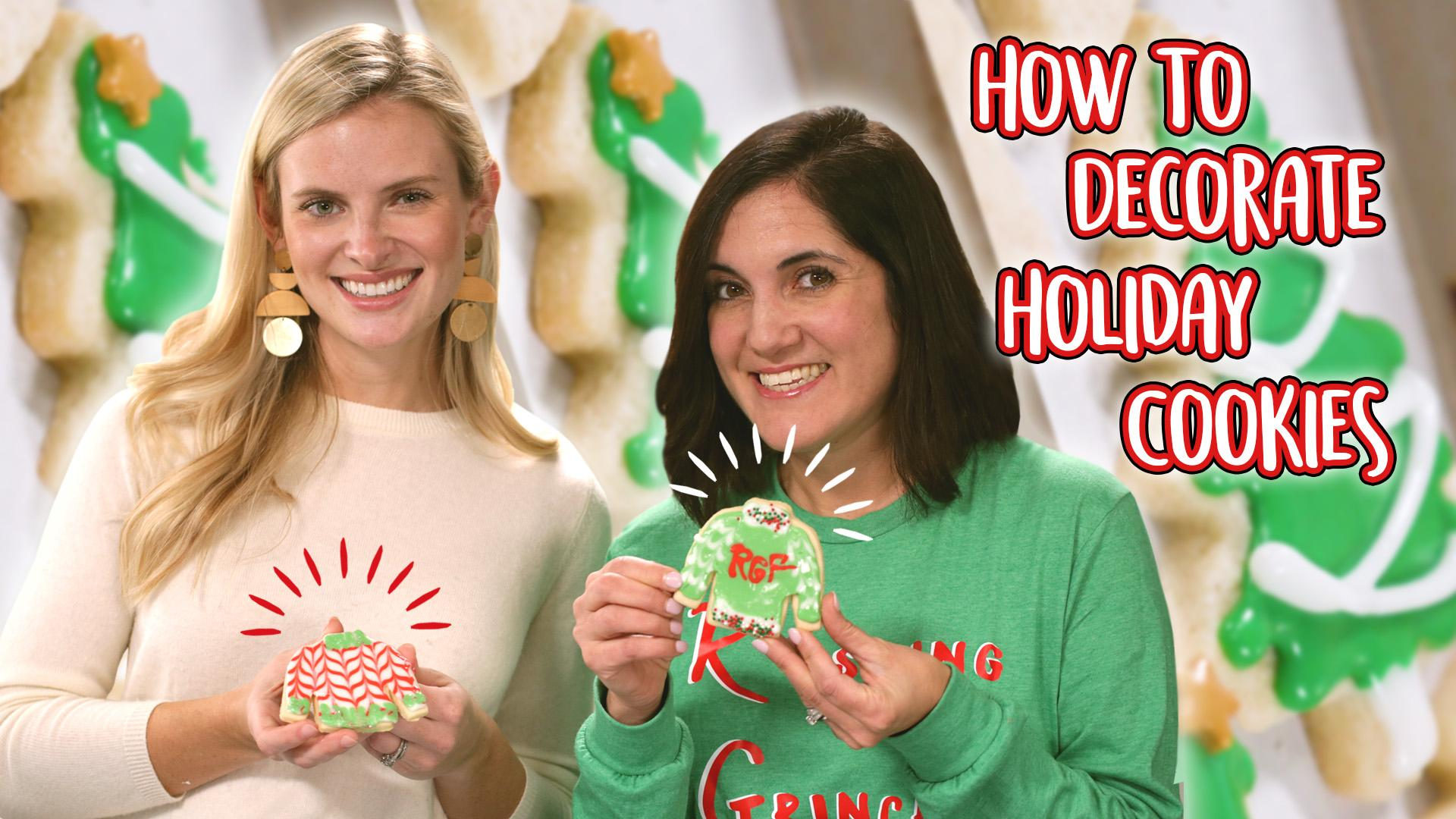 How to Decorate Christmas Cookies with Glaze Icing