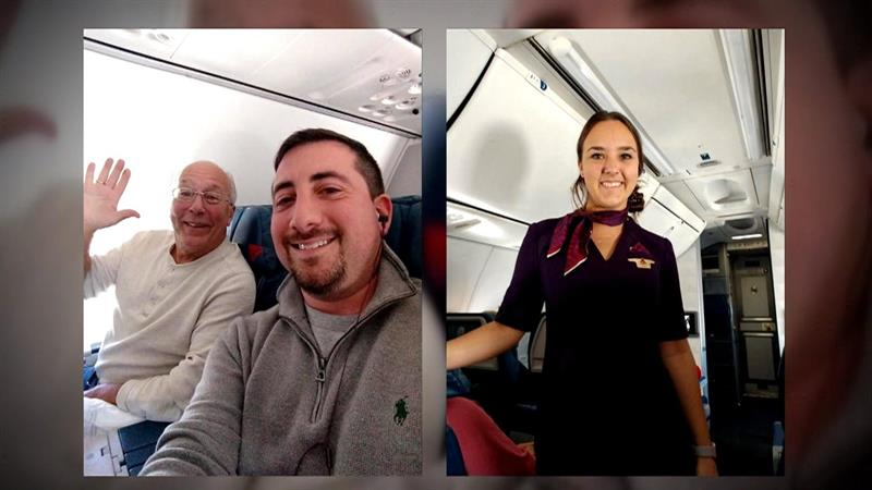 Uplifting - Flight Attendant's Dad Books Seat On Each Plane She Worked Over Christmas
