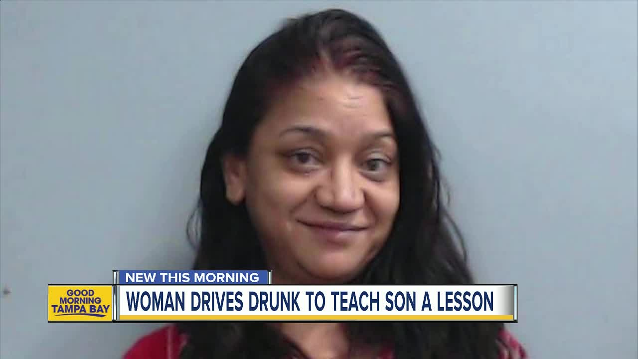 Mom arrested after allegedly driving drunk to 'teach her son a lesson'