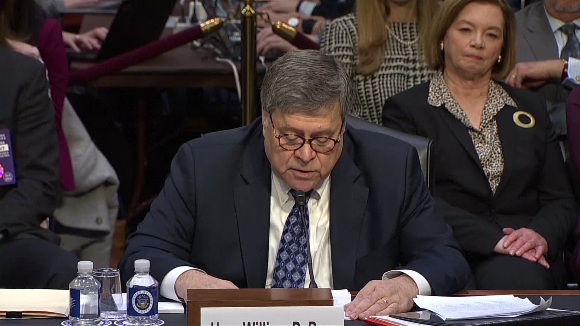 Politics - Relatively Smooth Sailing For William Barr In Senate Hearing