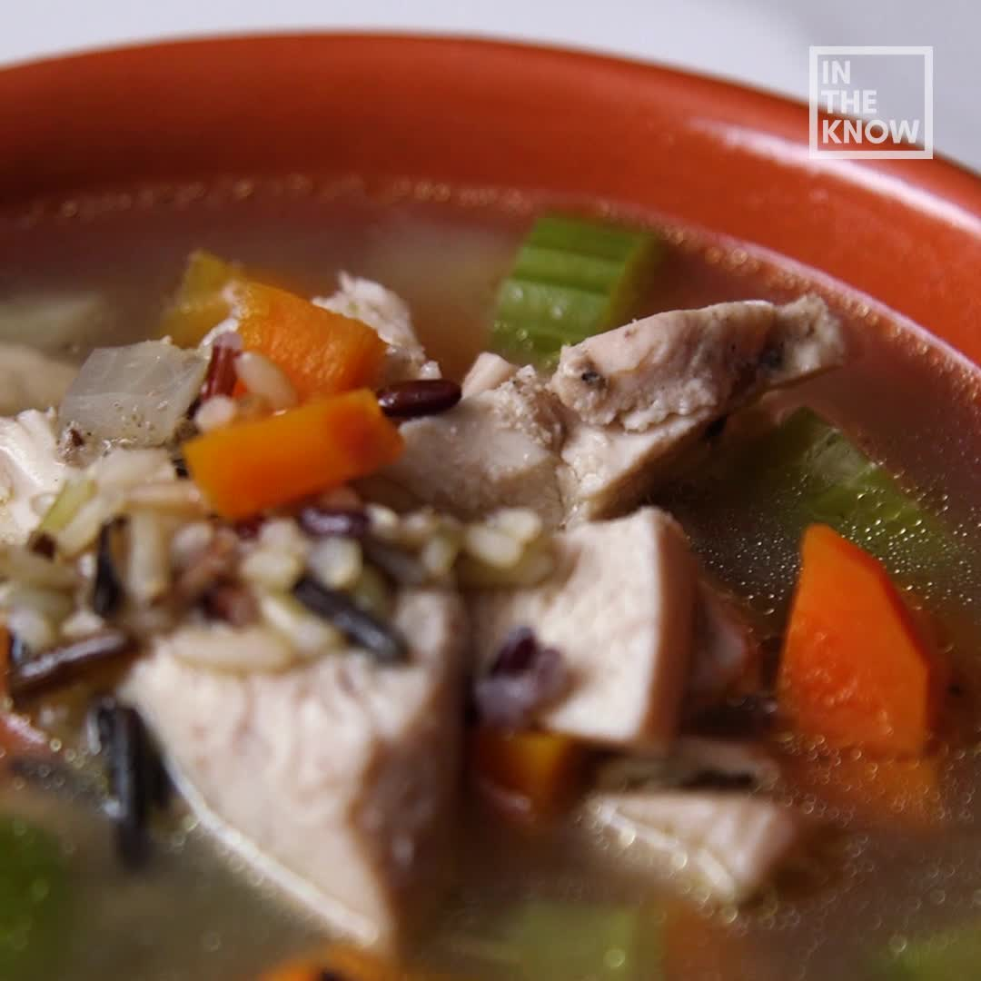 Slow Cooker Chicken And Wild Rice Soup Is A Comforting Weeknight Dinner
