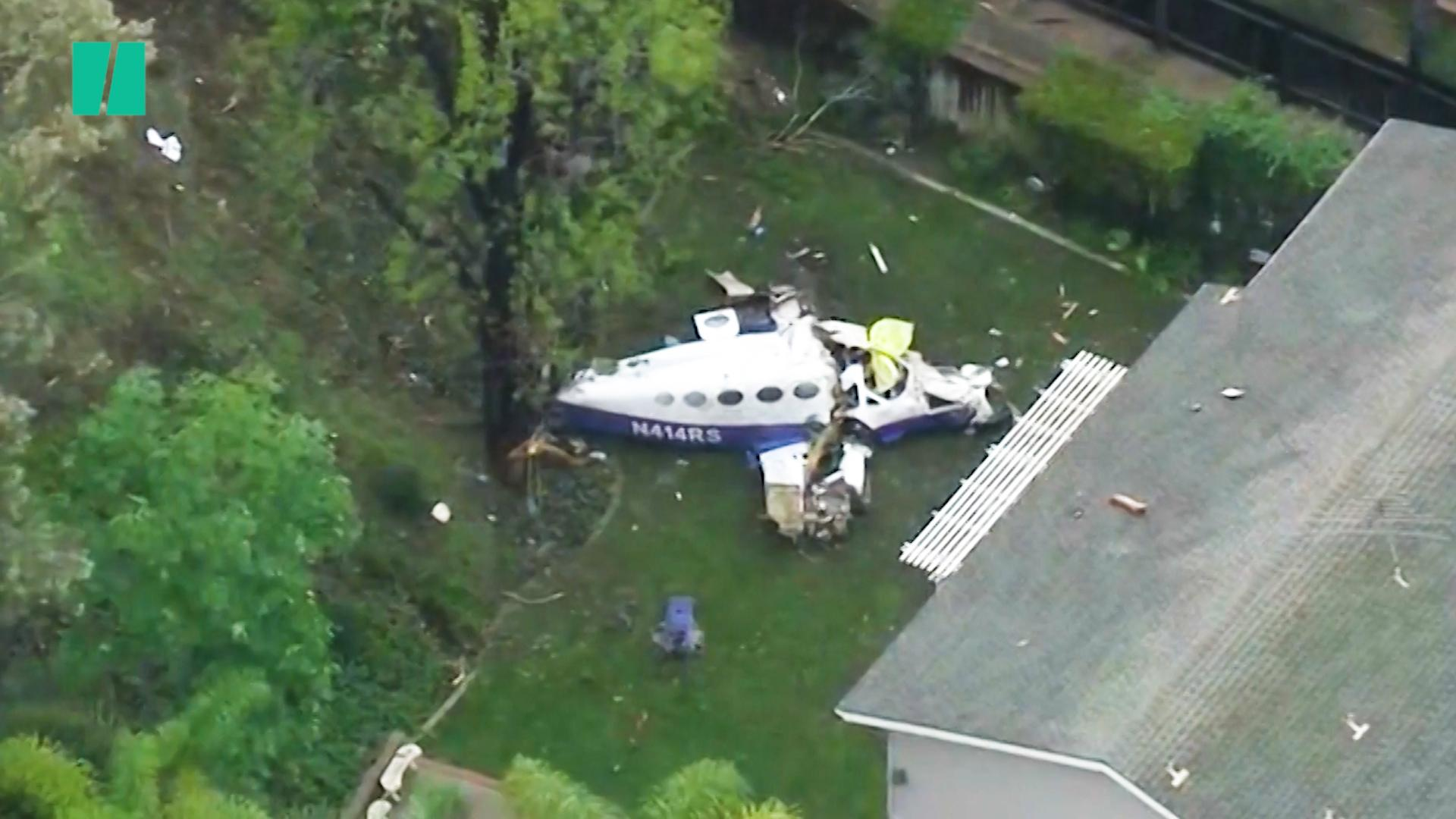 Five killed in fire after small plane crashes in Californian