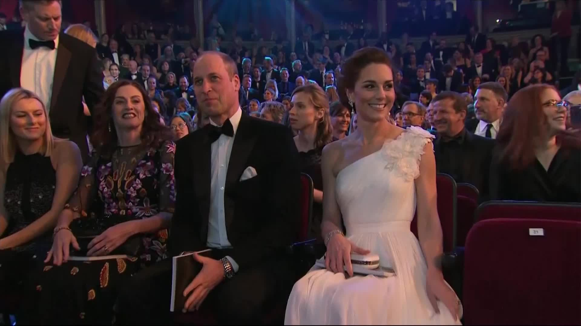Prince William and Kate Middleton had the most awkward entrance at the BAFTAs