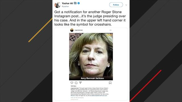 National News - Roger Stone Apologizes For Instagram Post Of Judge