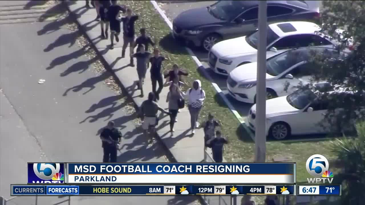 Stoneman Douglas Football Coach Quits Because He Can't Shake Grief
