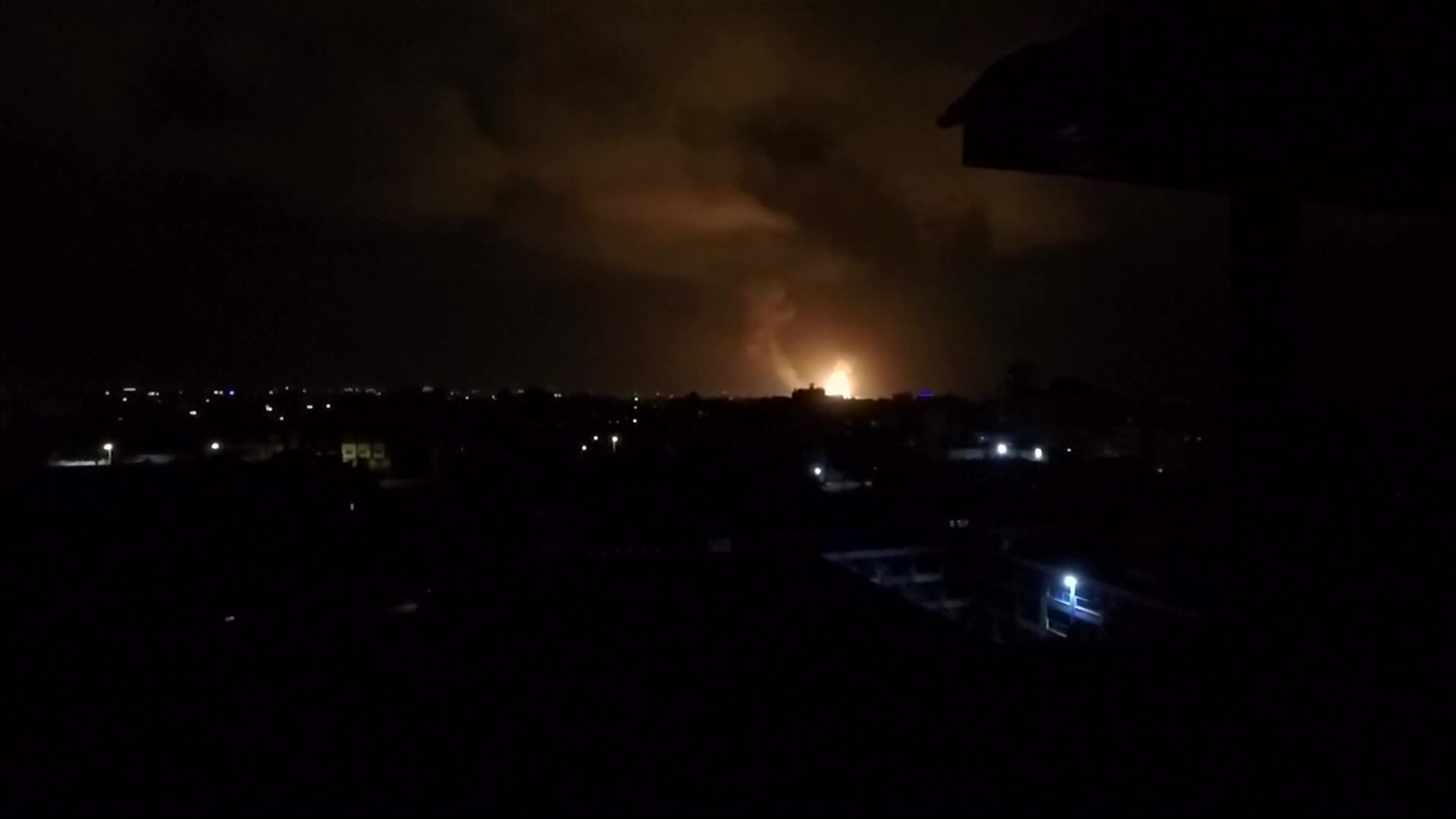None - Israel Strikes Gaza After Rocket Attacks