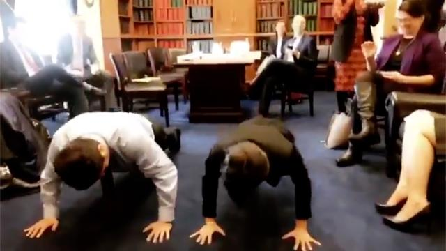 Alexandria Ocasio-Cortez Does Pushups 'To Get My Head Back In The Game'