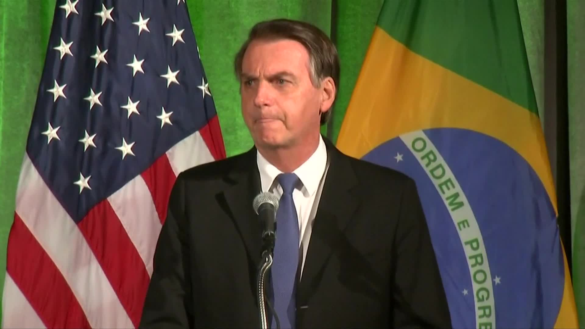 Politics - Jair Bolsonaro Talks Fake News Ahead Of White House Meeting